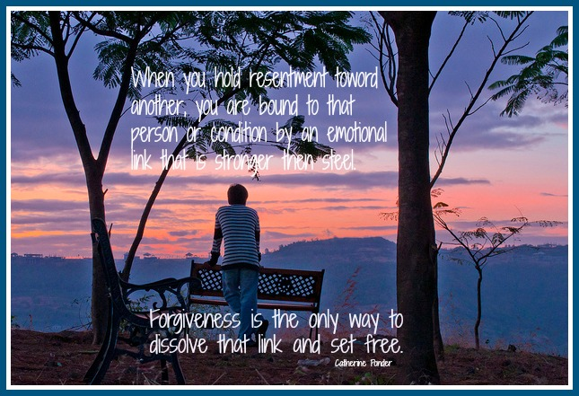 forgiveness is the only way to cut resentment link