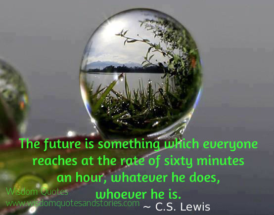The future is something which everyone reaches at the rate of sixty minutes an hour, whatever he does, whoever he is  - Wisdom Quotes and Stories