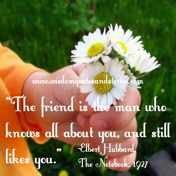 friend knows all about you and still likes you  - Wisdom Quotes and Stories