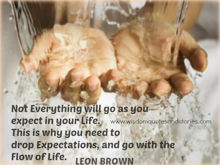 Not Everything will go as you expect in your Life. Drop Expectations and go with the Flow of Life - Wisdom Quotes and Stories
