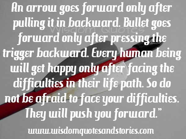 Arrow Quotes Life Interesting Do Not Be Afraid To Face Difficulties.they Will Push You Forward