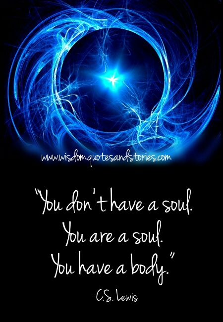 you are the soul and you have a body  - Wisdom Quotes and Stories