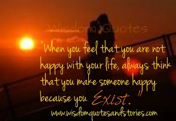 You make someone happy