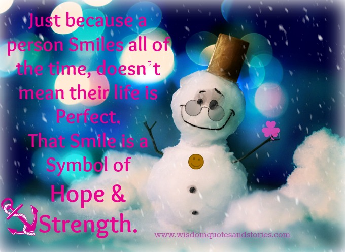 smile symbol of hope and strength
