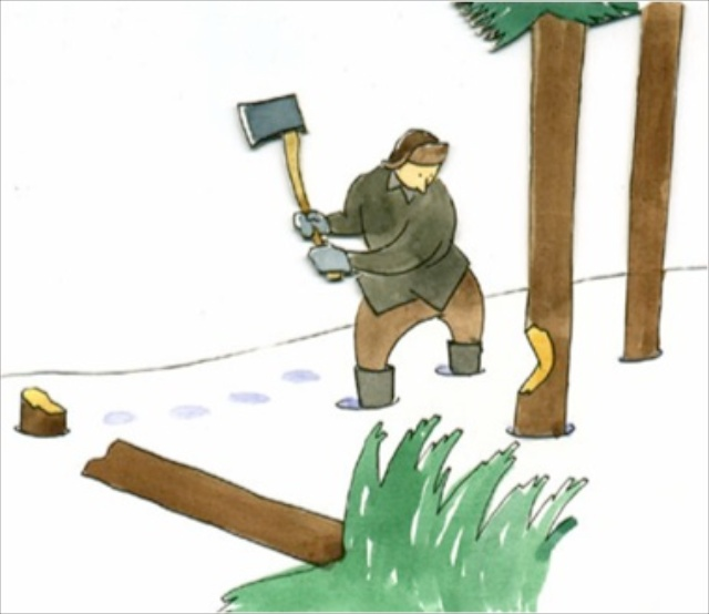 Story of a wood cutter - Wisdom Quotes and Stories