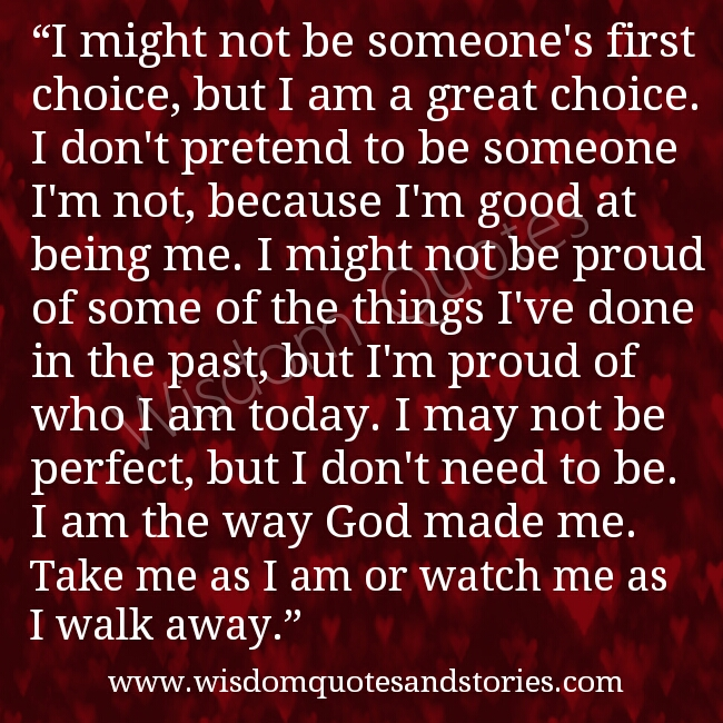 Take Me As I Am Quotes. QuotesGram I Am Me Quotes